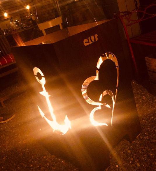 metalfisters individuell gestaltbare Feuertonne