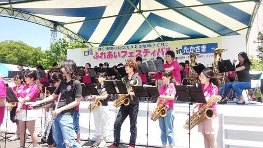 「連合高崎ふれあいフェスティバル」での演奏を行いました。