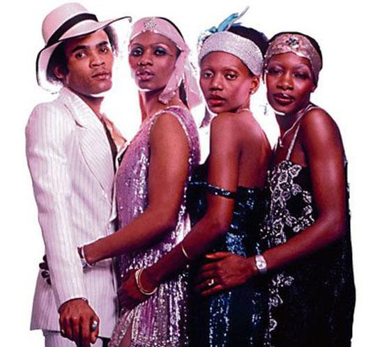 Bobby Farrell, Maizie Williams, Marcia Barrett und Liz Mitchell bildeten ab 1975 Frank Farians Popgruppe, die in Offenbach ihre Alben aufnahm. (Foto: Sony BMG Didi Zil)