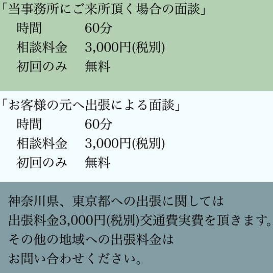 各種在留資格(ビザ)申請・帰化許可申請(日本国籍取得)等ご相談にかかる費用・「ビザカナ相模原」