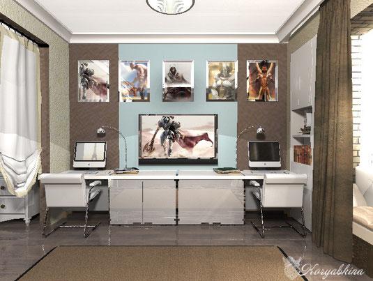 Проект детской комнаты от частного дизайнера по интерьеру