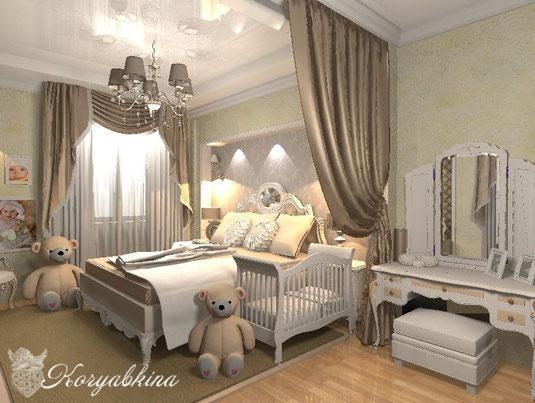 ребенок в спальне
