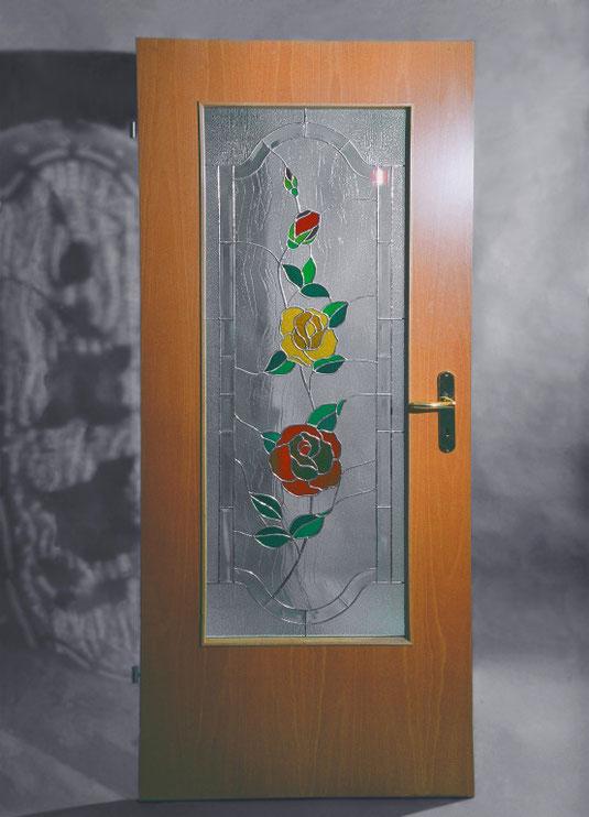 Tiffanyscheibe mit Rosen