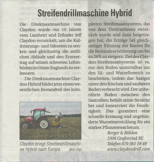 Pressebericht Bauernzeitung 09.11.12