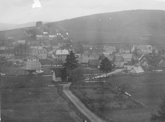 Dorfansicht von Wiederstein im Jahr 1914
