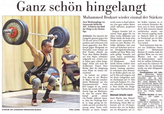 Höchster Kreisblatt vom 12.02.2014