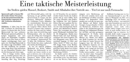 Höchster Krisblatt vom 13.03.2014