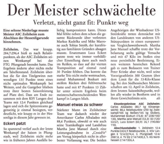 Höchster Kreisblatt vom 26.3.2014