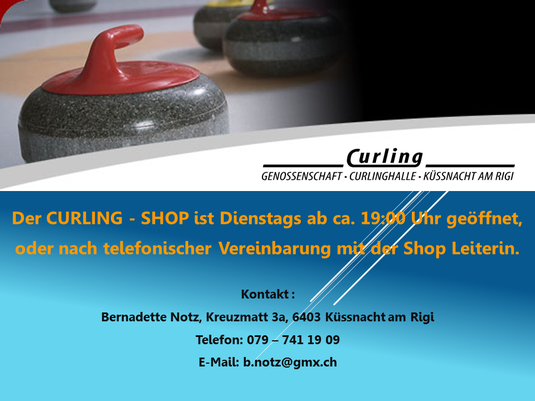Curling Shop in der Curlinghalle Küssnacht am Rigi