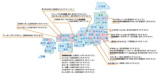OpenSNP地域SNSマップ