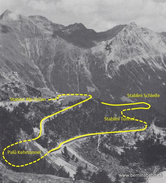 370-301-105-111y Streckenverlauf Alp Grüm - Stablini