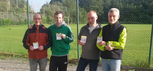Sieger und Zweite in Osnabrück: Joachim, Sören, Rainer und Alex