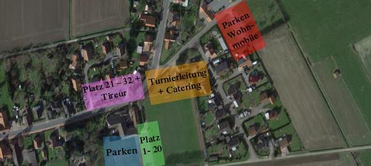 Kurze Wege: Alle 32 Plätze liegen nah beieinander. Auch Parkplätze sind in unmittelbarer Nähe vorhanden