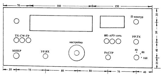 Эскиз передней панели
