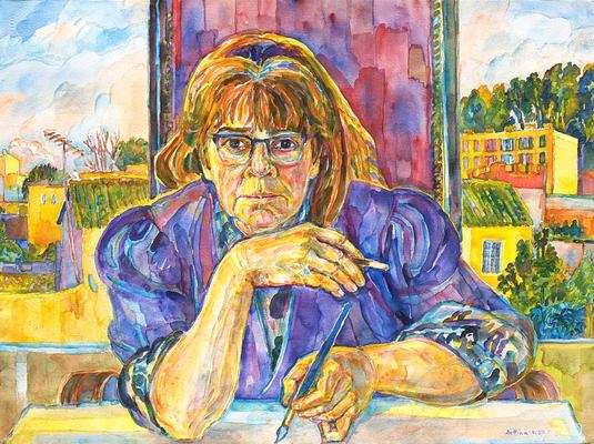 Selbstbildnis von Bettina Heinen-Ayech, 1997