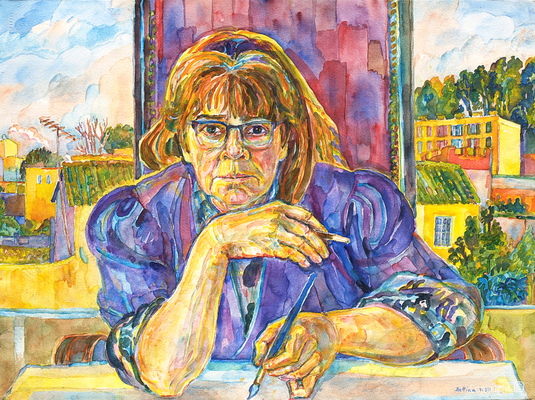 Self-portrait by Bettina Heinen-Ayech, 1997