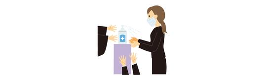 館内にアルコール消毒剤の設置をしております 手指消毒のご協力をお願い致します