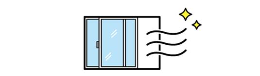 館内のドアや窓を開け定期的な換気をおこなっています 寒い、暑い等のお気持ちもあるかと思いますが安全第一のためご理解ご協力の程よろしくお願い致します