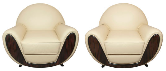 Pair of exceptional armchairs , Art Déco Wiesbaden Regine Schmitz-Avila