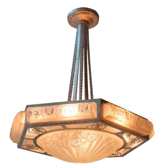 Ceiling lamp of Degue, Art Déco Wiesbaden Regine Schmitz-Avila