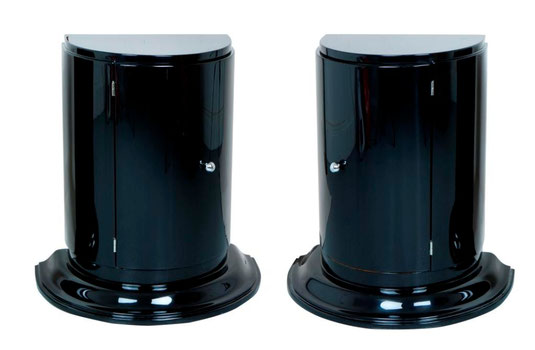 A pair of black cabinets, Art Déco Wiesbaden Regine Schmitz-Avila