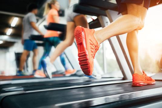 Menschen laufen auf Laufband unter Anleitung von Schielin Sports - Trainer für Groß und Klein