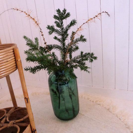 Vase vert Dame Jeanne Bloomingville Vintage brocante tendance