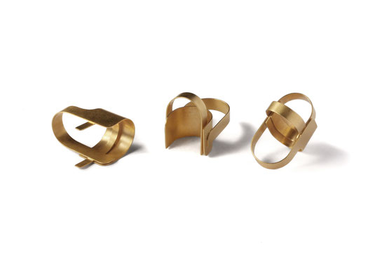 """Signs"" - Rings - 24 Ct Gold, Copper by Eva Suba"