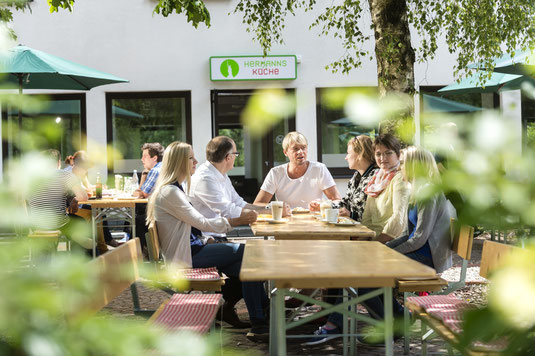 Hermanns Kaffeegarten in Haus Neuland © A. Hub