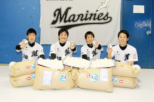 石垣島で収穫された玄米が千葉に到着した(5日)