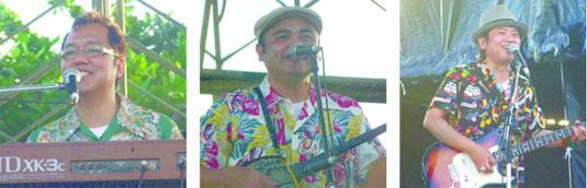うたの日コンサートのトリを務めたBEGIN=30日午後、舟蔵公園