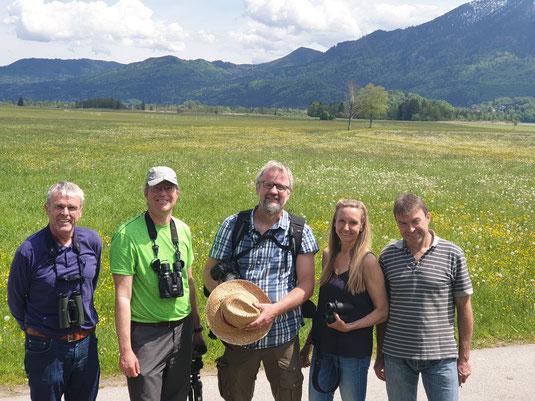 Aktiv für den Schutz von Wiesenbrütern und Landschaft, die Steuerungsgruppe der Loisach-Kochelsee-Moore