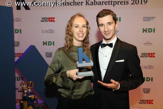 Sonja Pikart mit Laudator Clemens Maria Schreiner