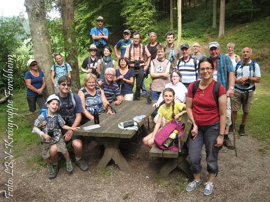 Die Wanderergruppe (Foto: Günther Eichler)