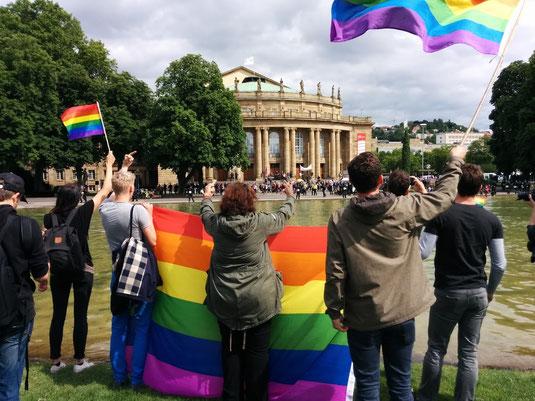 Unsere erste Teilnahme gegen die sogenannte Demo für Alle in Stuttgart