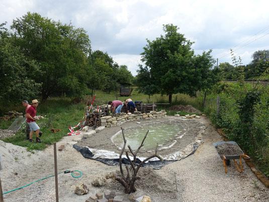 Bau des Schmetterlingsgartens