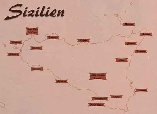 Sizilien Karte Rundreise 2017