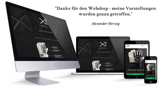 webshop xone tormannhandschuh