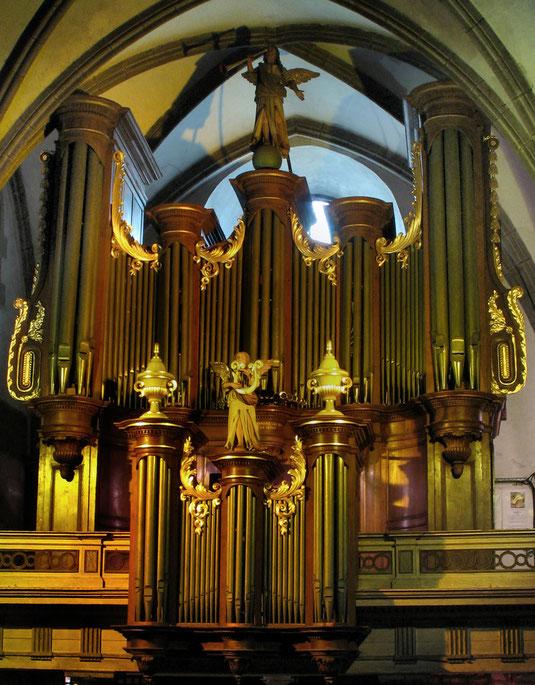 L'Orgue de Notre Dame, construit en 1831 et dont le buffet est classé Monument Historique