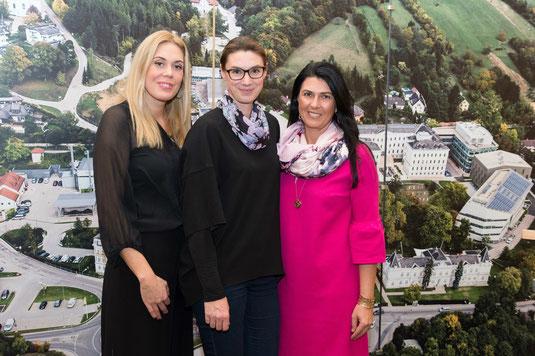 Die Gastgeberinnen: Mag. Sandra Maria Soravia-Lepuschitz, Dr. Lisa Cichocki und Mag. Renate Altenhofer