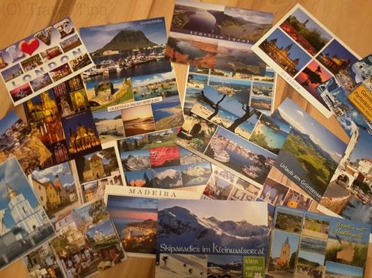 Ein kleiner Teil meiner Postkartensammlung - jede, die ich bekomme, hebe ich auf.