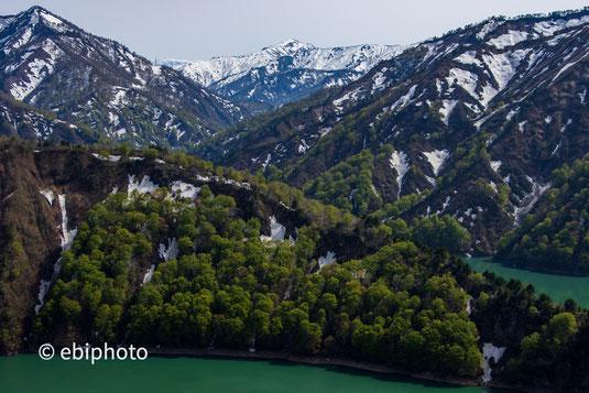 田子倉湖と越後駒ヶ岳