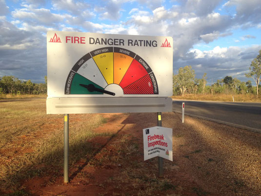 Australien, Northern Territory, Start Highway, Feuer, Anzeige