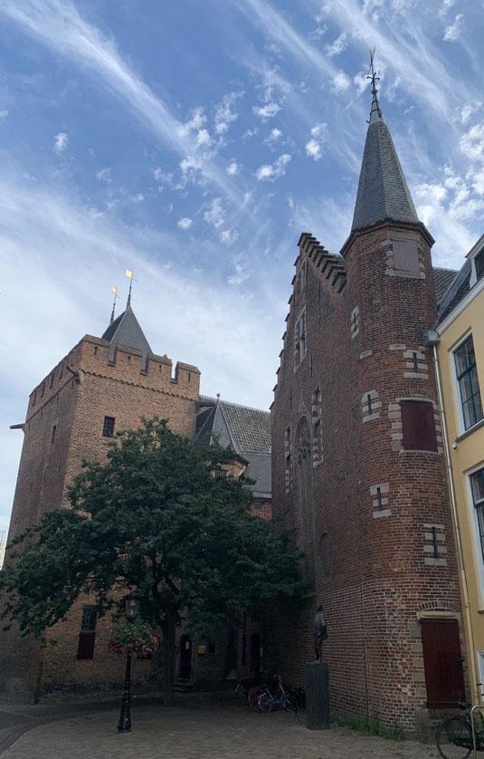 Niederlande, Holland, Utrecht, Zentrum, GrachtenNiederlande, Altstadt, Sehenswürdigkeit, Pieterskerk, Peterskirche