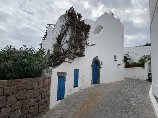 Sizilien, Liparische Inseln, Äolische, Panarea, Cala Junco, Strand, Sehenswürdigkeit, Haus, weiß, blau