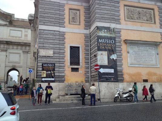 Italien, Rom, Piazza del Popolo, Museum Leonardo da Vinci