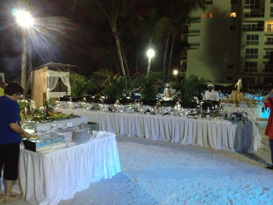 Dinner im Hotel Hamaca in Boca Chica