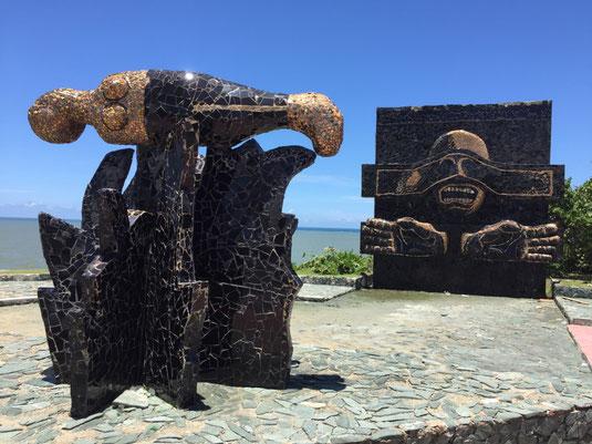 Dom Rep, Dominikanische Republik, Santo Domingo, Promenade, Malecon, Ufer, Denkmal, Monumento Heroes 30 de Mayo