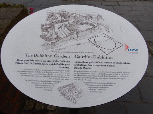 Irland, Dublin, Sehenswürdigkeiten,  Dubh Linn Garden, Dubhlinn