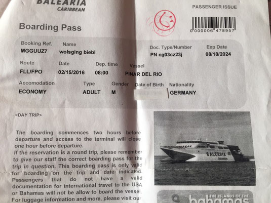 Florida nach Bahamas, Fort Lauderdale, Freeport, Ticket, Speedboot, Port Lucaya, Balearia, Tagestour, Tagestrip, Tagesausflug